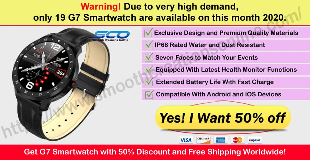 G7 Smartwatch Where to Buy Smooth