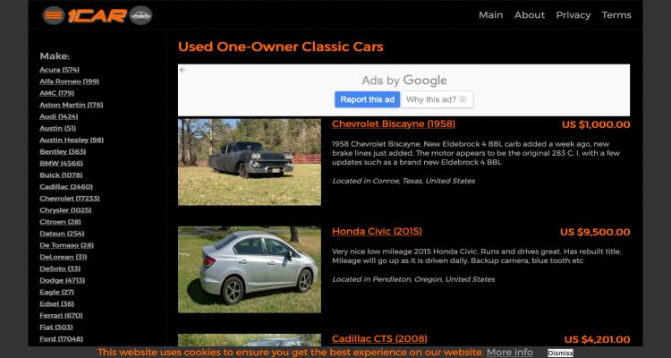 1car.one Website Reviews