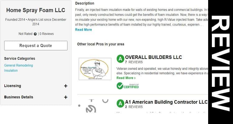 Home Spray Foam LLC Eugene Reviews 2020