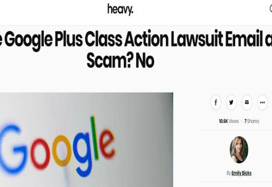 Google Plus Class Action Lawsuit Scam
