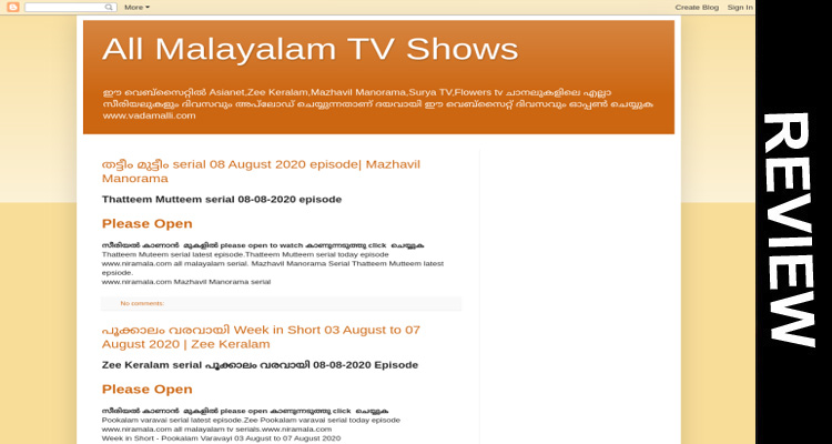 Vadamalli.com Online Website Reviews