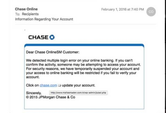 Chase Alert Text 2020