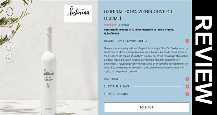 Kosterina Olive Oil Reviews