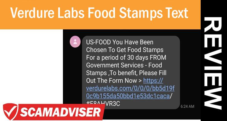 Verdure Labs Food Stamps Text 2020