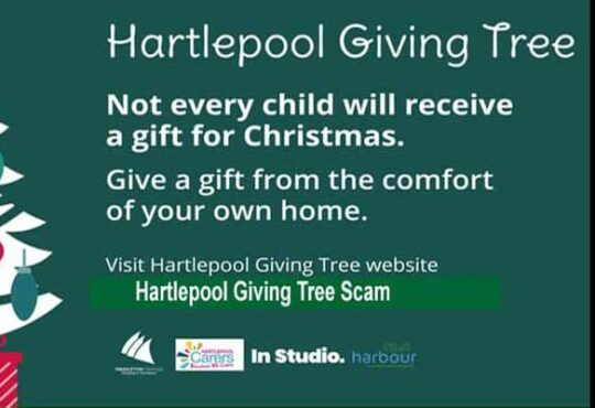 Hartlepool Giving Tree Scam 2020