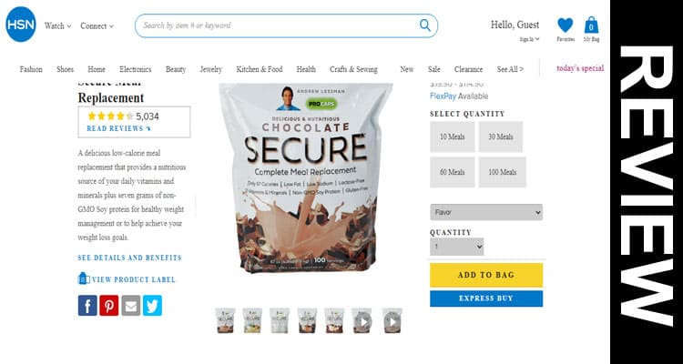 Is Secure Meal Replacement Legit 2021