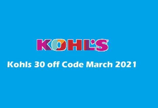 Kohls 30 Off Code March 2021 smoothcreationsonline
