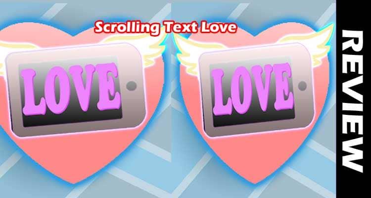 Scrolling Text Love smoothcreationsonline