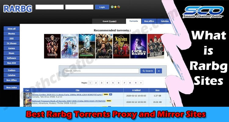 Best Rarbg Torrents Proxy and Mirror Sites 2021